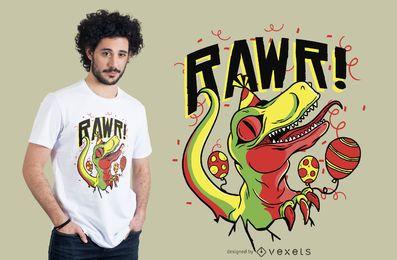 Design de camisetas de aniversário de dinossauros para bebês