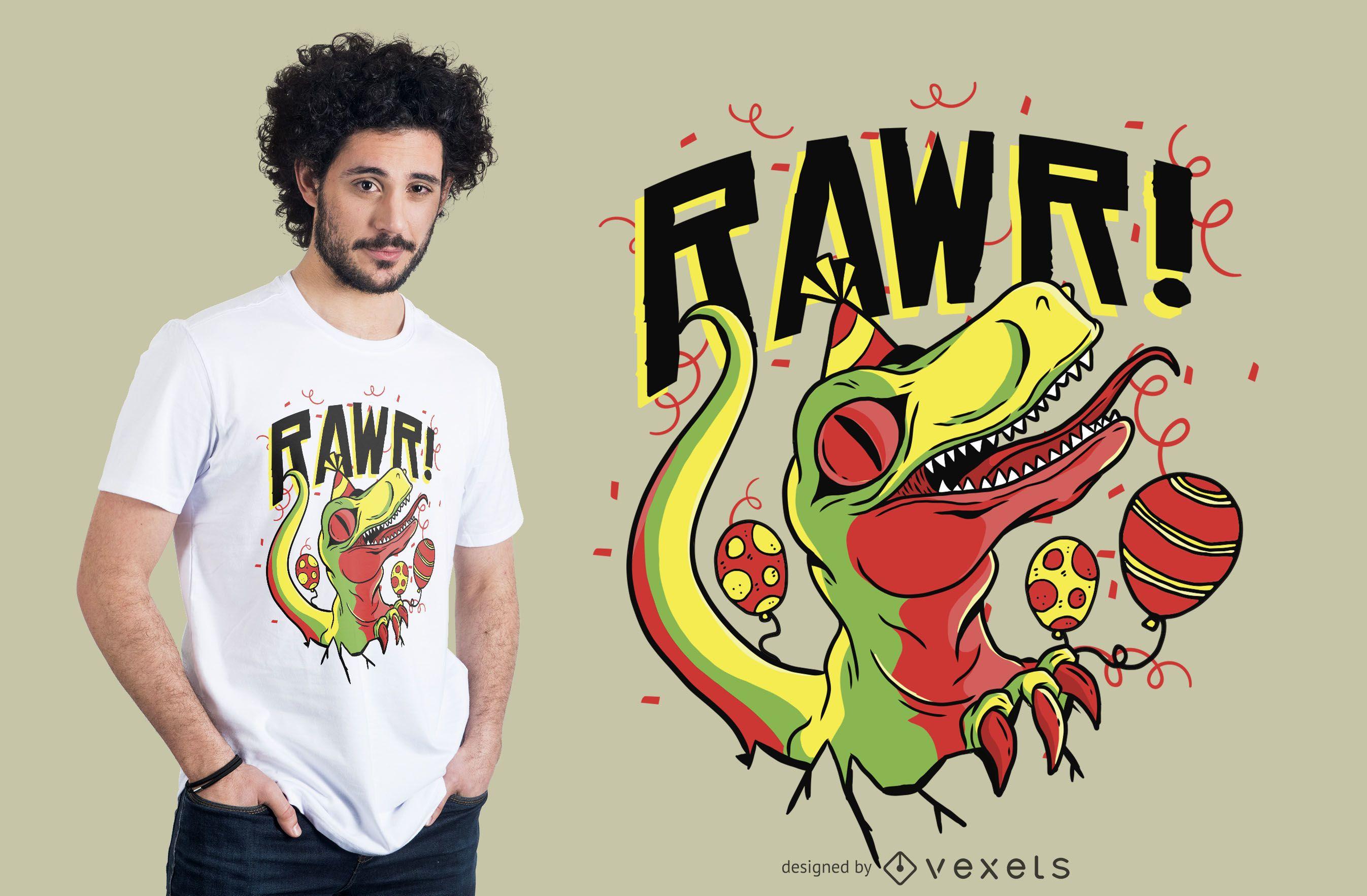 Baby Dinosaur Birthday T-shirt Design