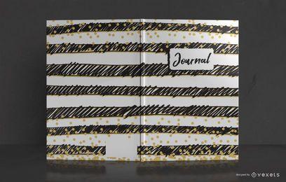 Diseño de portada de diario Doodle Stripes