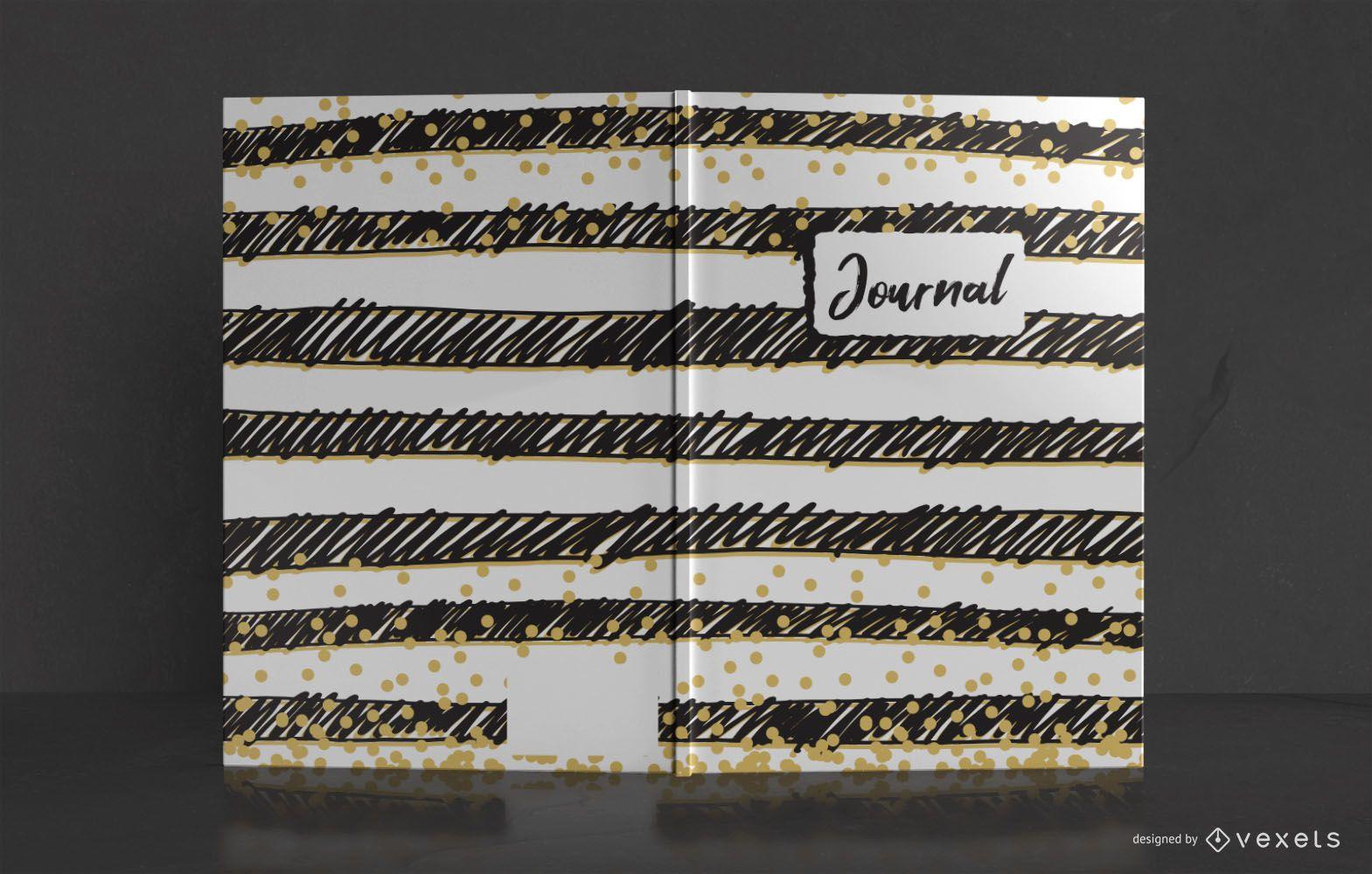 Doodle Stripes Journal Cover Design