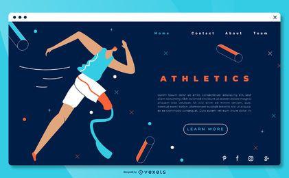 Página de destino do atletismo paralímpico