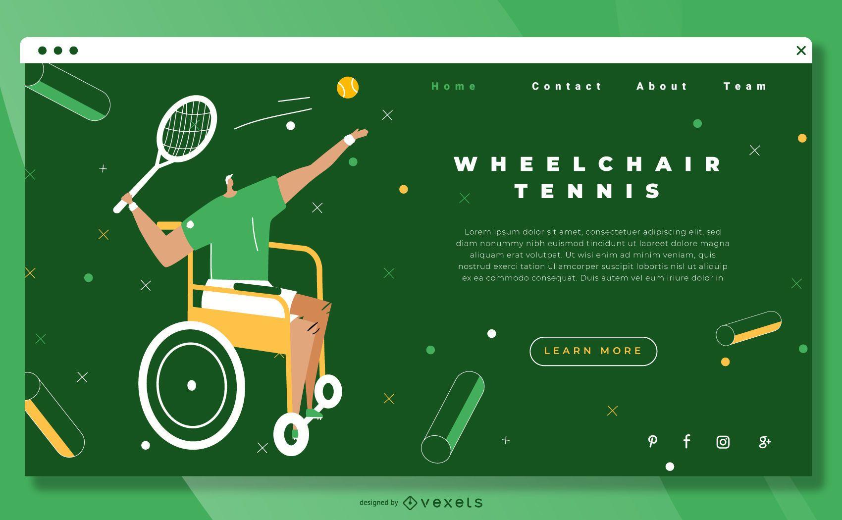 Wheelchair tennis landing page