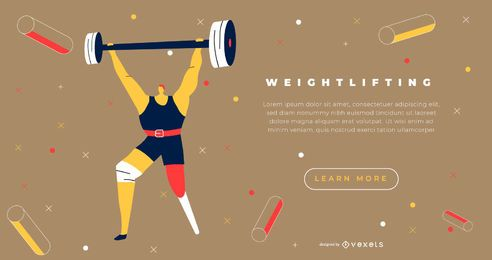 Paralympic powerlifting landing page