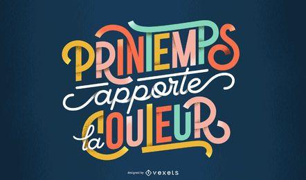 Design de letras francesas de primavera
