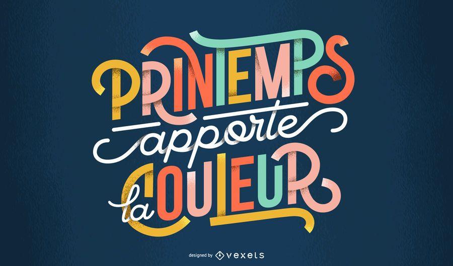Spring french lettering design