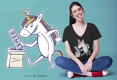 Unicorn Vote T-shirt Design
