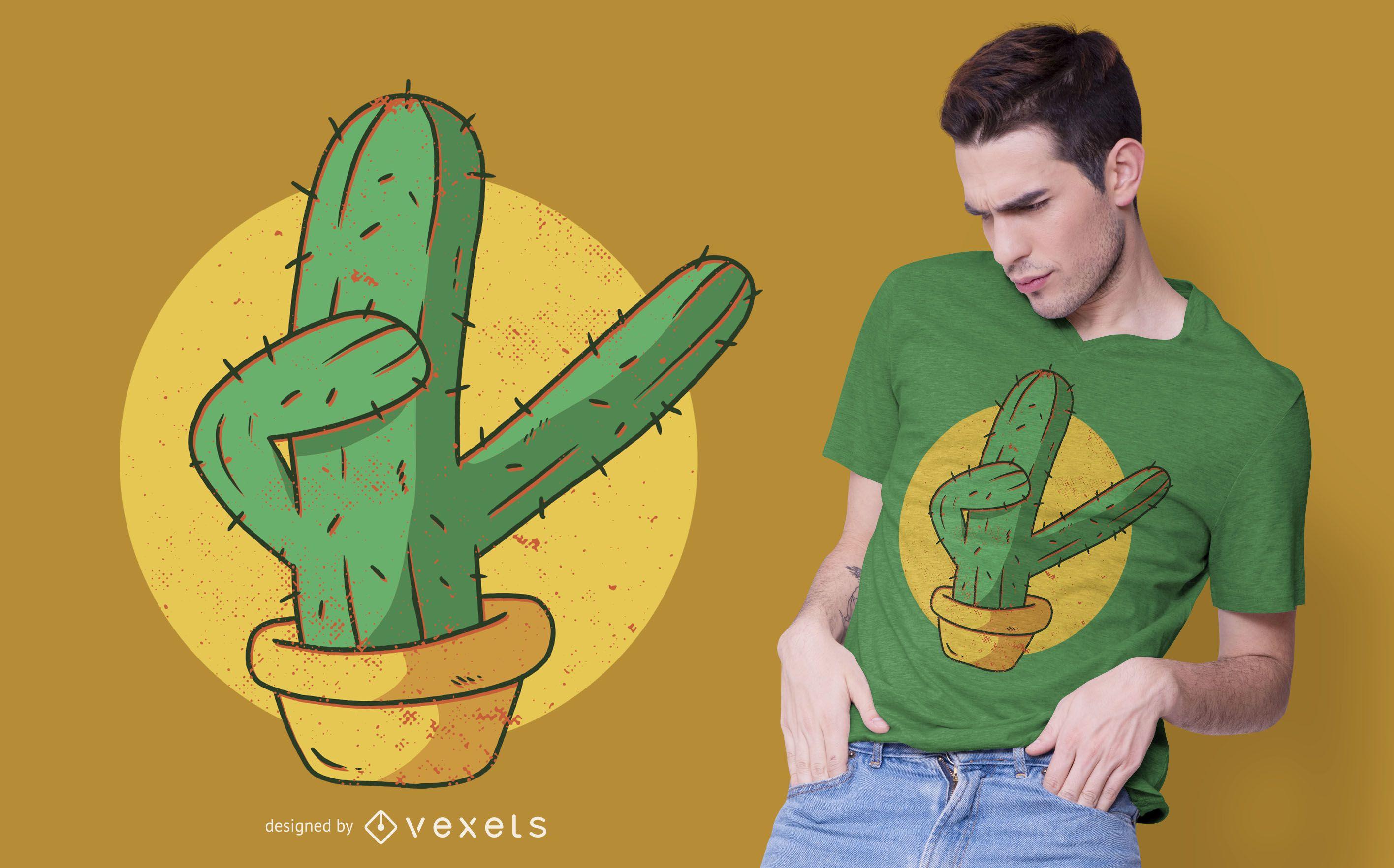 Dabbing cactus t-shirt design
