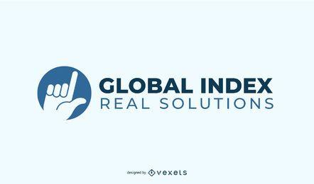 Design de logotipo de índice global