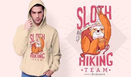 Diseño de camiseta de Sloth Hiking Team