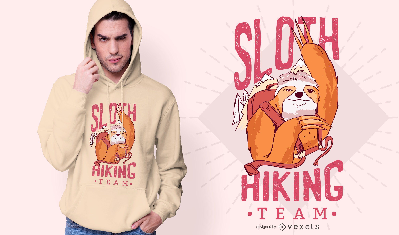 Sloth Hiking Team T-shirt Design