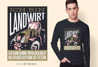 Agriculturist German T-shirt Design