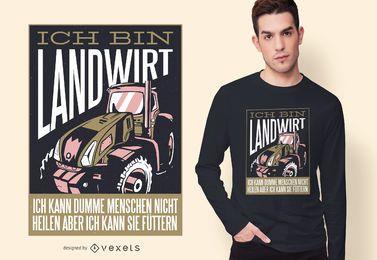 Diseño de camiseta alemana agrícola