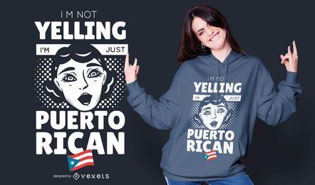 Design de t-shirt porto-riquenho