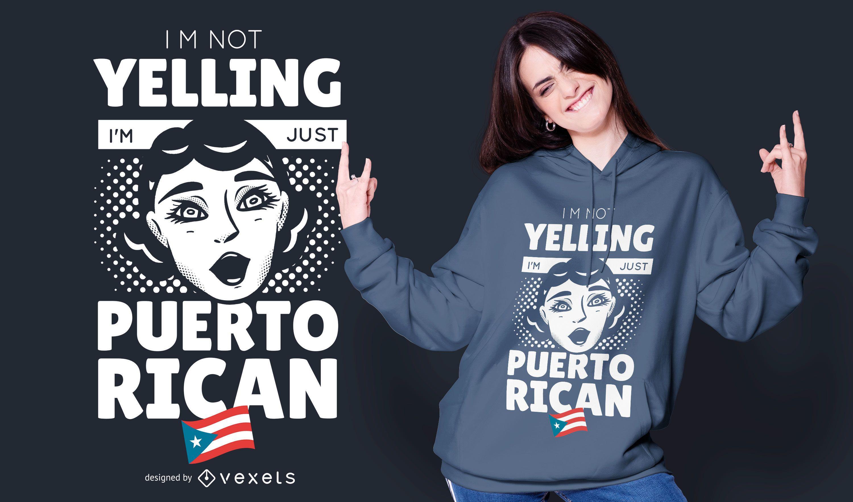 Diseño de camiseta puertorriqueña