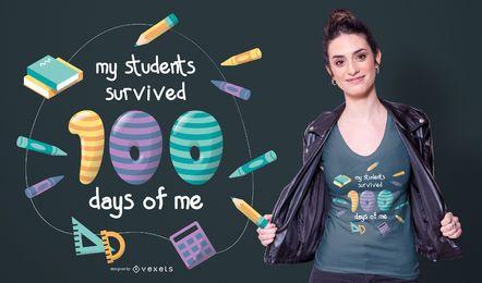 Diseño de camiseta de cotización de maestro de escuela