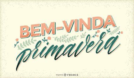 Bem-vindo letras portuguesas da primavera