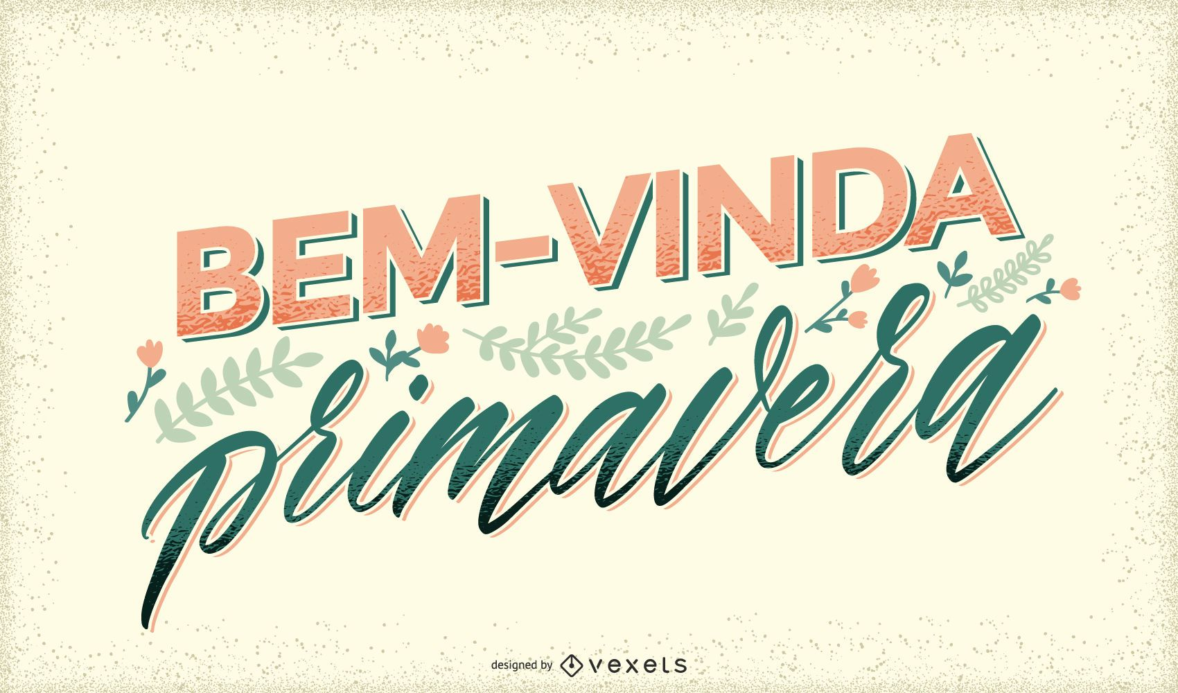 Welcome Spring portuguese lettering
