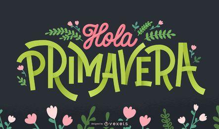 Letras espanholas de boas-vindas da primavera