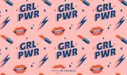 Patrón del día de la mujer grl power
