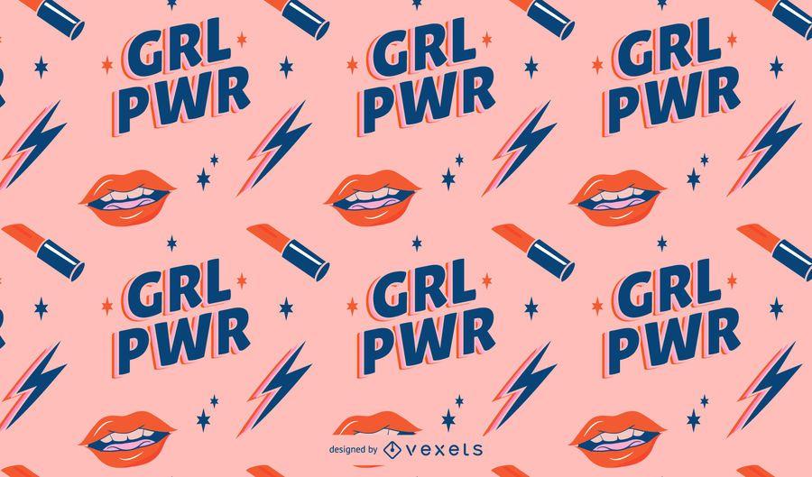 Padrão do dia da mulher do Grl power