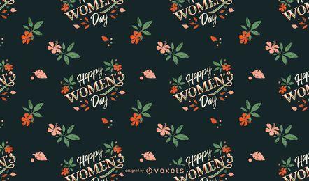 Desenho de padrão de feliz dia das mulheres
