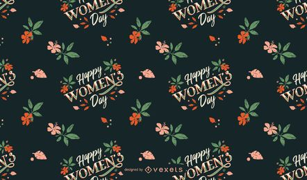 Happy Womens day pattern design