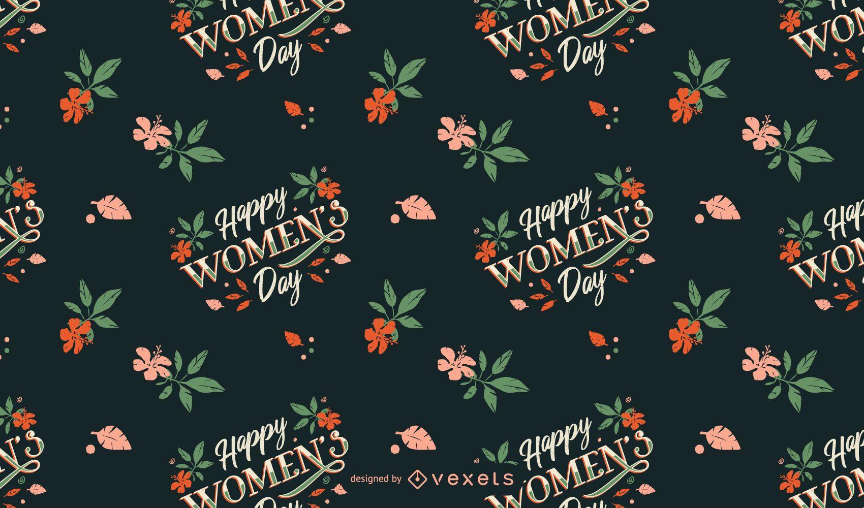 Diseño de patrón de feliz día de la mujer