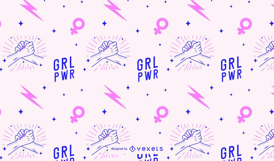 Grl pwr women's day pattern