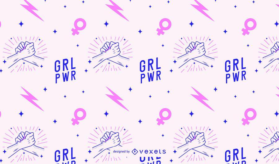 Patrón del día de la mujer grl pwr