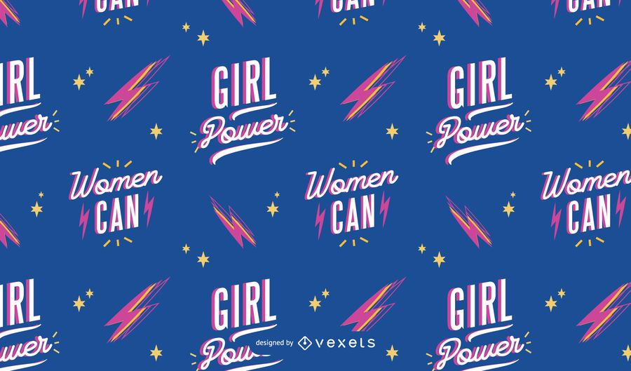Women can Women's day pattern