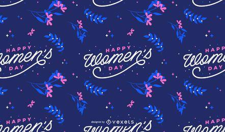 Patrón de feliz día de la mujer