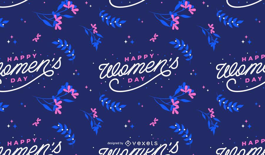 Glückliches Muster der Frauen Tages