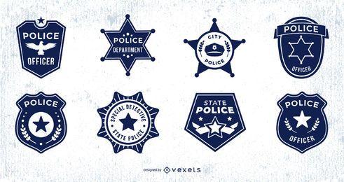 Paquete de diseño de placa de policía