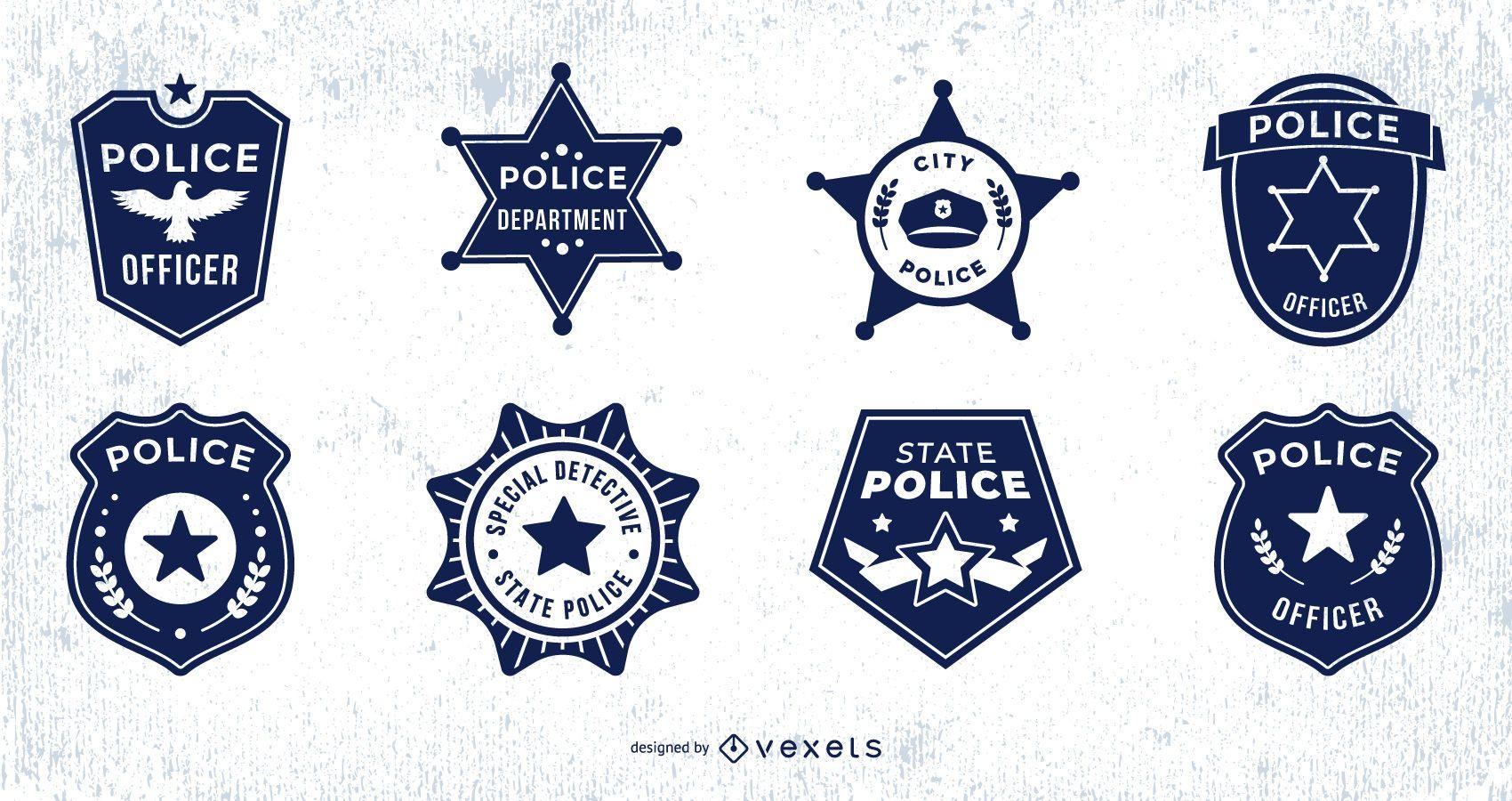 Paquete de dise?o de insignia de polic?a