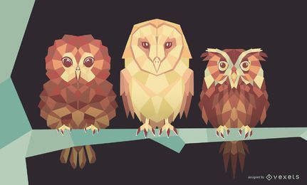 Geometric Owl Design Pack