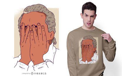 Design de t-shirt do homem Facepalm