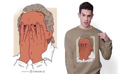 Facepalm man t-shirt design