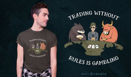 Design de t-shirt de citação de jogo de pôquer