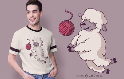 Design de t-shirt de ovelhas de voleibol
