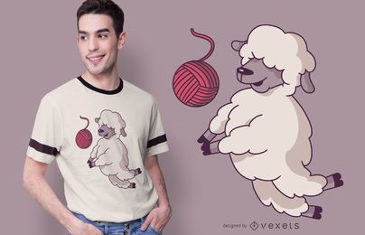 Volleyball Schaf T-Shirt Design