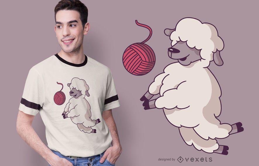 Volleyball sheep t-shirt design