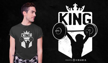 Design de t-shirt rei de halterofilismo