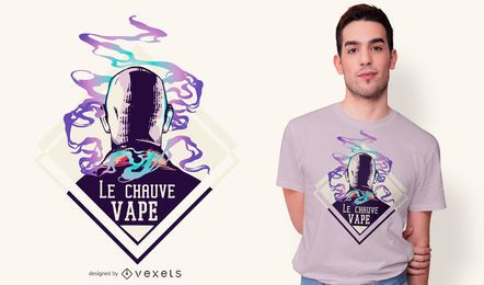 Bald Vape T-Shirt Design