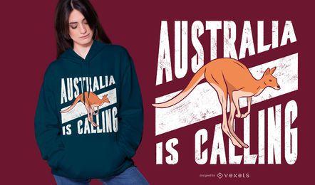 Australien nennt T-Shirt Design