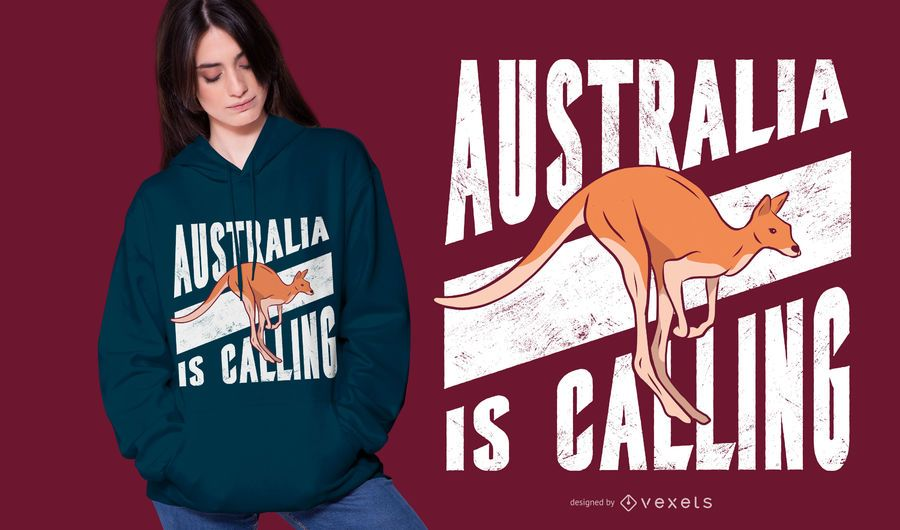 Australia is calling t-shirt design