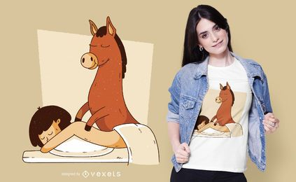 Design de t-shirt de massagem de burro