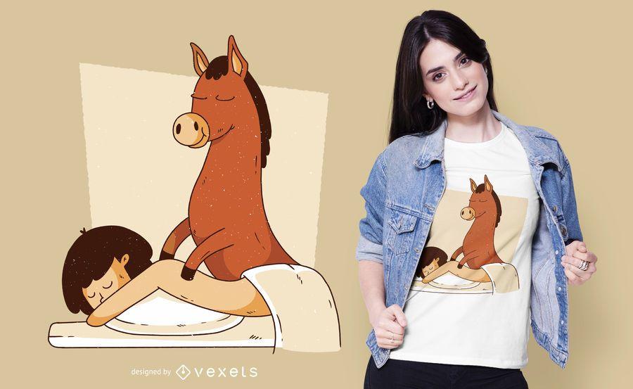 Donkey massage t-shirt design