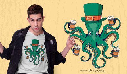 Projeto do t-shirt do polvo de St Patrick