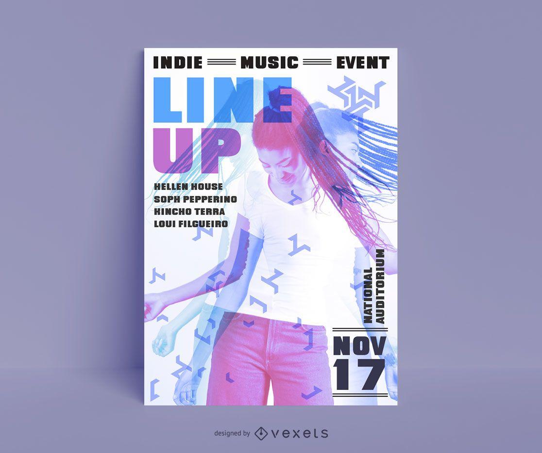 Diseño de carteles de música indie