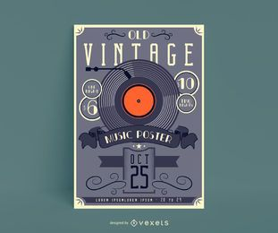 Old Vintage Music Poster Design